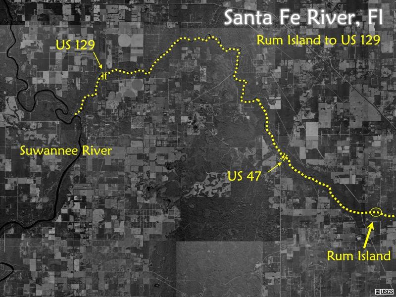 Santa Fe River Maps - Us 129 map
