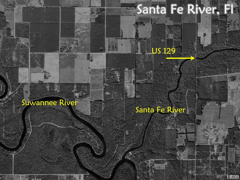 Santa Fe River Maps - Us 129 map