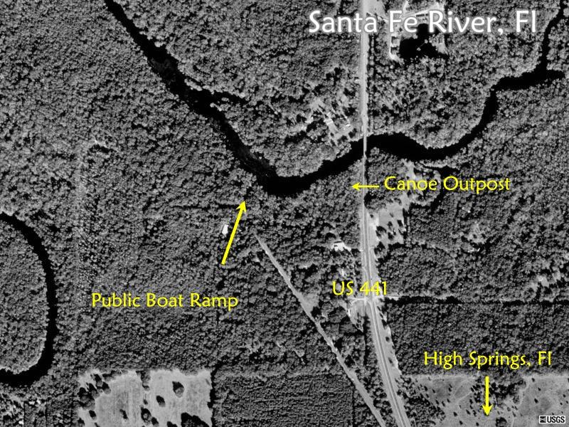 Santa Fe River Maps - Us 441 map